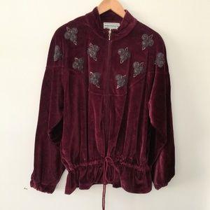 80s Vintage Velour Jacket